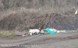 Viterbo - Rifiuti abbandonati in strada Montagna