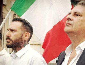 Massimo Ursino a sinistra, con Roberto Fiore