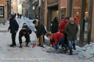 Viterbo - Neve - Via del Corso