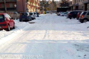 Viterbo - Neve - Via Costantino Agnesotti