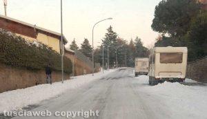 Viterbo - Neve a via della Pila