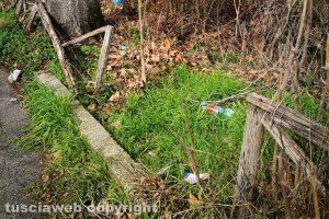 Viterbo - Una zona verde di via Belluno