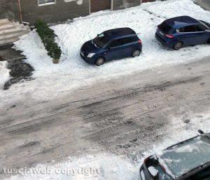 Viterbo - Emergenza neve in zona Murialdo