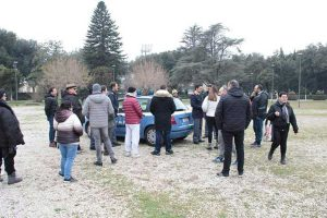 Viterbo - La polizia a pratogiardino Lucio Battisti