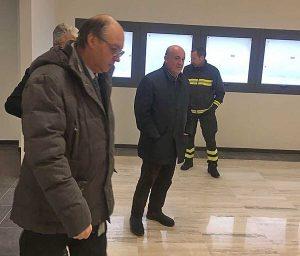 Il capo del corpo dei vigili del fuoco Gioacchino Giomi in visita a Viterbo