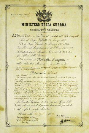 Conferimento medaglia d'argento a Filiberto Boccacci