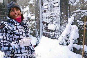 Viterbo coperta di neve - Quartiere San Pellegrino