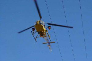 Viterbo - Enel, ispezioni in elicottero