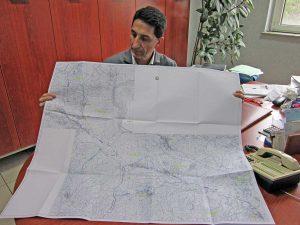Fabio Belli (Ance) con il progetto della Cassia