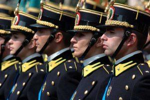 Gli allievi ufficiali della guardia di finanza