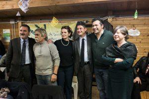 Panunzi, Mazzoli e Terrosi alla cena solidale alla fattoria di Alice
