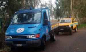 Tarquinia - I volontari Aeopc al lavoro per il maltempo
