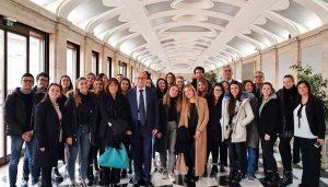 Corte Costituzionale - Gli studenti del Buratti con il vicepresidente Aldo Carosi, viterbese ed ex alunno dell'istituto