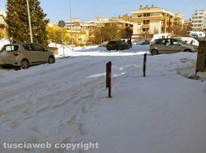 Neve - Viterbo - Disagi in via Monti Cimini
