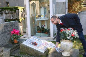 Viterbo - Andrea Egidi omaggia Oreste Massolo