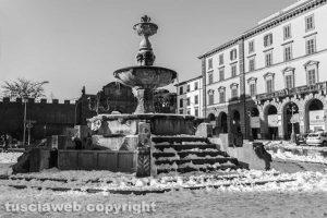 Viterbo - Neve - La città coperta di bianco