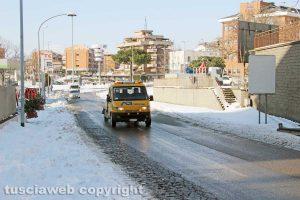 Viterbo - Neve a via della Palazzina