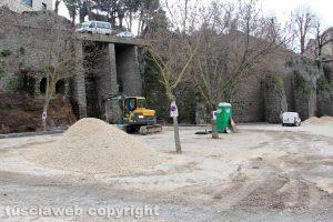 Viterbo - Lavori al parcheggio di via sant'Antonio