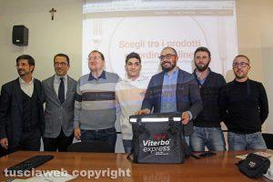 Viterbo Expresso - Lo staff con Sabatini e De Simone
