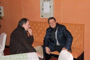Goffredo Taborri e Giulio Marini all'incontro con Parisi