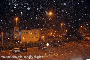 Viterbo - Primi fiocchi di neve in città