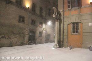 Bufera di neve a Viterbo