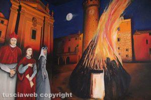 Bagnaia - Il sacro fuoco nel murales del sottopassaggio