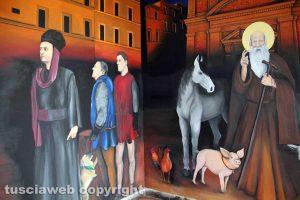 Bagnaia - Il murales del sottopassaggio dipinto dai ragazzi dell'Abav