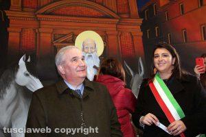 Bagnaia - Fioroni e Ciambella all'inaugurazione del murales