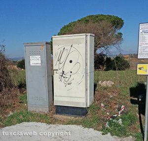 Viterbo - La cabina a Monterazzano