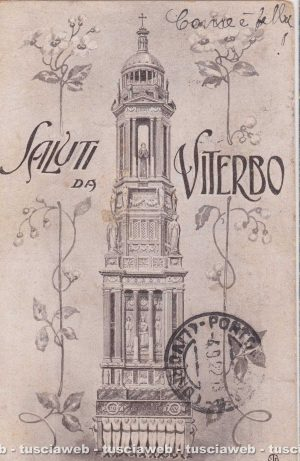Viterbo - La macchina di Santa Rosa del 1915/18 - Collezione privata di Roberto Innocenzi