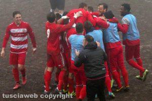 Sport - Calcio - Ronciglione united - L'esultanza dei giocatori dopo il gol