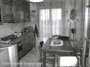 Delitto di Santa Lucia - La cucina dei coniugi Fieno, luogo del delitto