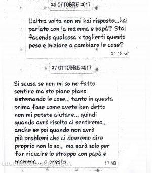 Delitto di Santa Lucia - I messaggi tra Ermanno Fieno e la sorella Anna Rita del 20 e 27 ottobre 2017