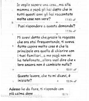Delitto di Santa Lucia - I messaggi tra Ermanno Fieno e la sorella Anna Rita del 27 ottobre 2017