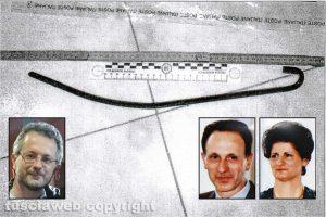 Delitto di Santa Lucia - L'attizzatoio - Nei riquadri, da sinistra: Ermanno Fieno, Gianfranco Fieno e Rita Franceschini
