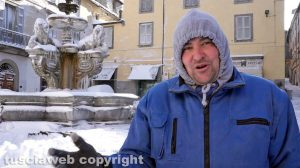 Viterbo coperta di neve - Ettore Fieramosca