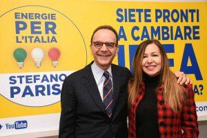 Stefano Parisi e Annamaria Bini