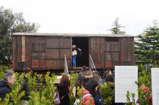 Tarquinia - Studenti in visita al memoriale della Shoah