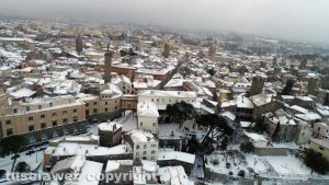 Viterbo - Le immagini aeree della città sotto la neve
