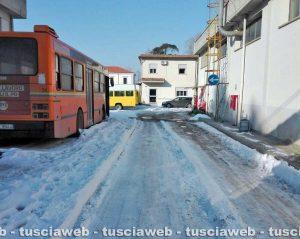 Viterbo - Emergenza neve - Il deposito Francigena
