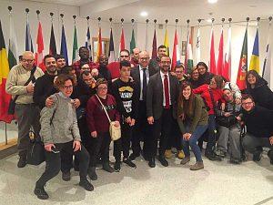 La visita al Parlamento europeo