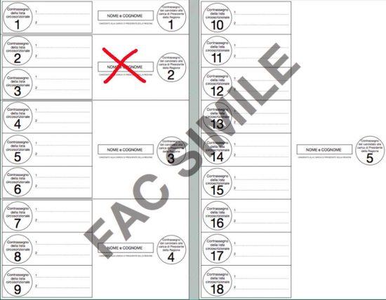 Elezioni regionali - Esempio a