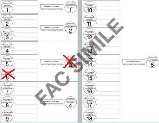 Elezioni regionali - Esempio b