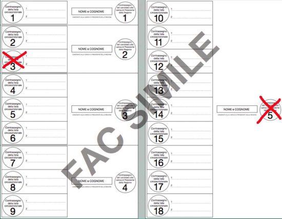 Elezioni regionali - Esempio c