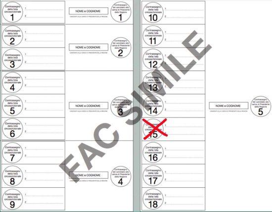 Elezioni regionali - Esempio d