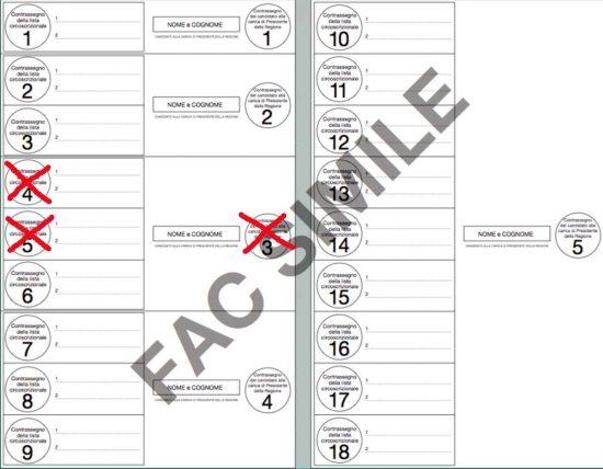 Elezioni regionali - Esempio e