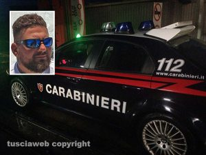 Carabinieri - Nel riquadro: Nicola Zanobi