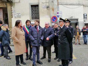 Bassano Romano - Luisa Ciambella col ministro Franceschini
