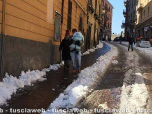 Viterbo - Neve - L'intervento su via Matteotti